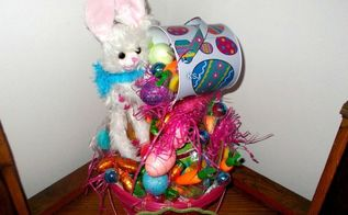 easter bunny basket all made with dollartree products