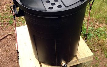 how to make a rain barrel from a trash can