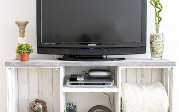 DIY EASY RUSTIC TV CONSOLE TABLE