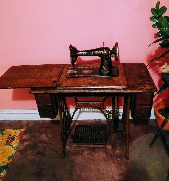 refurbished vintage singer sewing machine