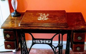 refurbished vintage singer sewing machine