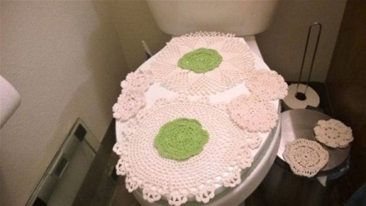 lacy toilet lid cover