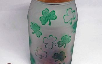 make an etched glass lucky penny jar
