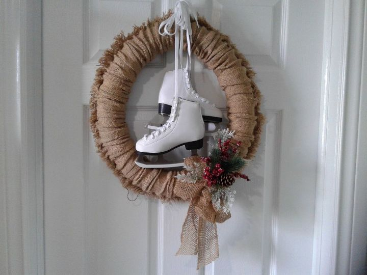 four season burlap wreath