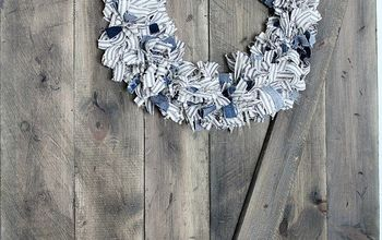 DIY Ticking Stripe Fabric Wreath