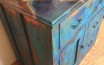 shades of blue unicorn spit cabinet makeover