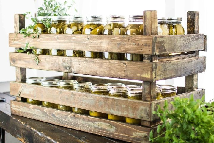 how to make these rustic stackable storage crates