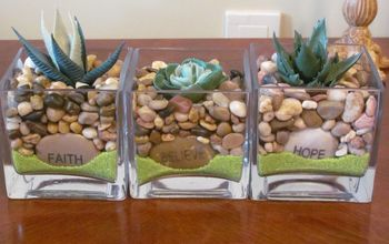 make decorative planters using supplies from the dollar store