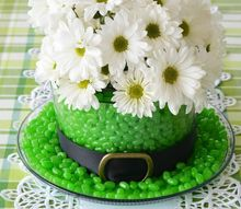 st patrick s day centerpiece blooming and edible leprechaun hat