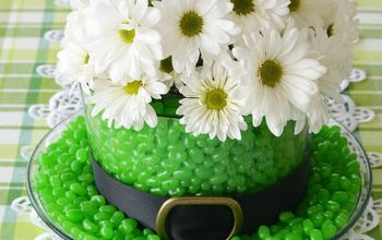 St. Patrick's Day Centerpiece: Blooming and Edible Leprechaun Hat!
