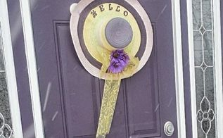 spring door decor mellow yellow