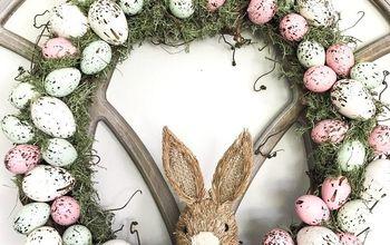 DIY Speckeld Easter Egg Wreath