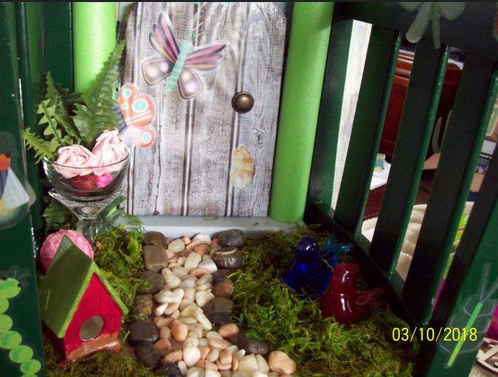 garden door welcome spring with miniature garden door