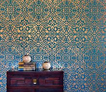 how to stencil a wallpaper look for less