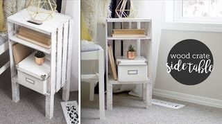 q how to make a nightstand out wooden crates