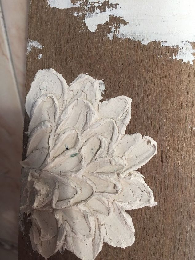 How to remove cracks in this flower made of chalk powder and