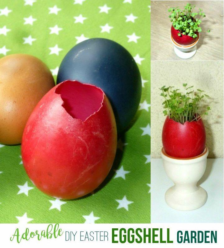 adorable easter eggshell garden