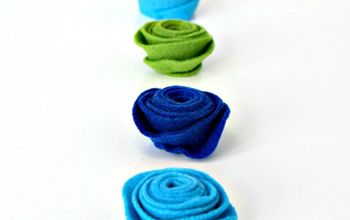 Spring Home Decor The EASIEST Way! - How To Make Felt Flowers
