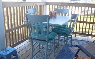 porch table and chairs, Finished