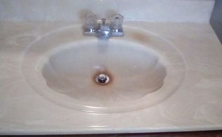 q can i paint a bathroom sink that is faux marble and plastic