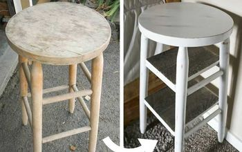 how to turn barstools into nightstands