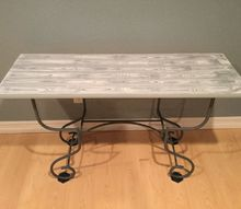furniture up cycle faux wood grain table