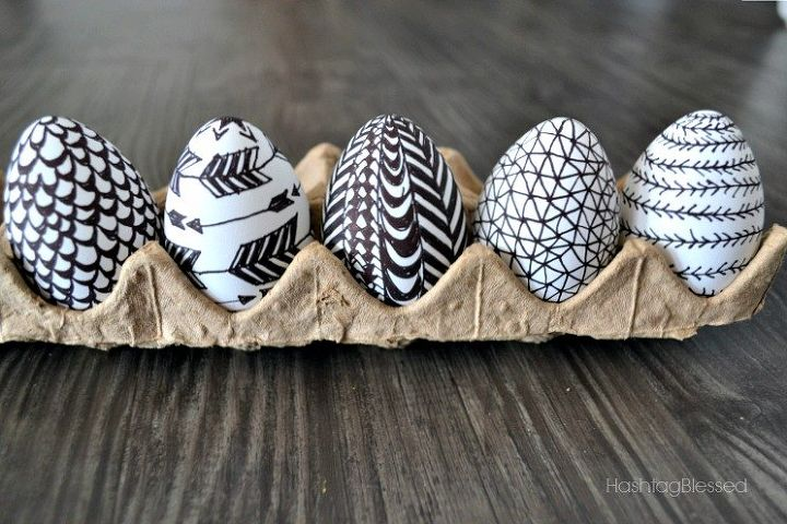 s quick easter egg ideas that are just too cute, Doodle on a couple eggs with Sharpies