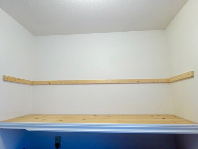 how to install open shelves in a nook