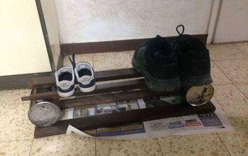 poor man s shoe rack
