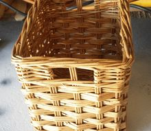give an outdated basket a new look with paint and a liner