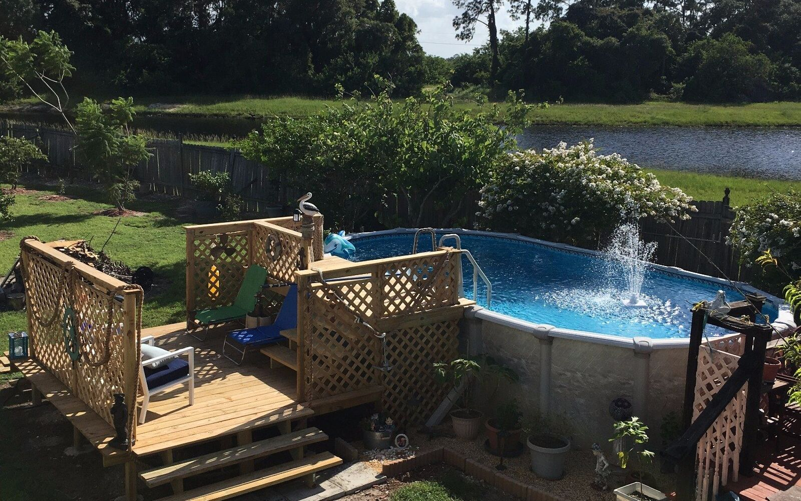 s upgrade your backyard with these 30 clever ideas, Build a beautiful pool deck