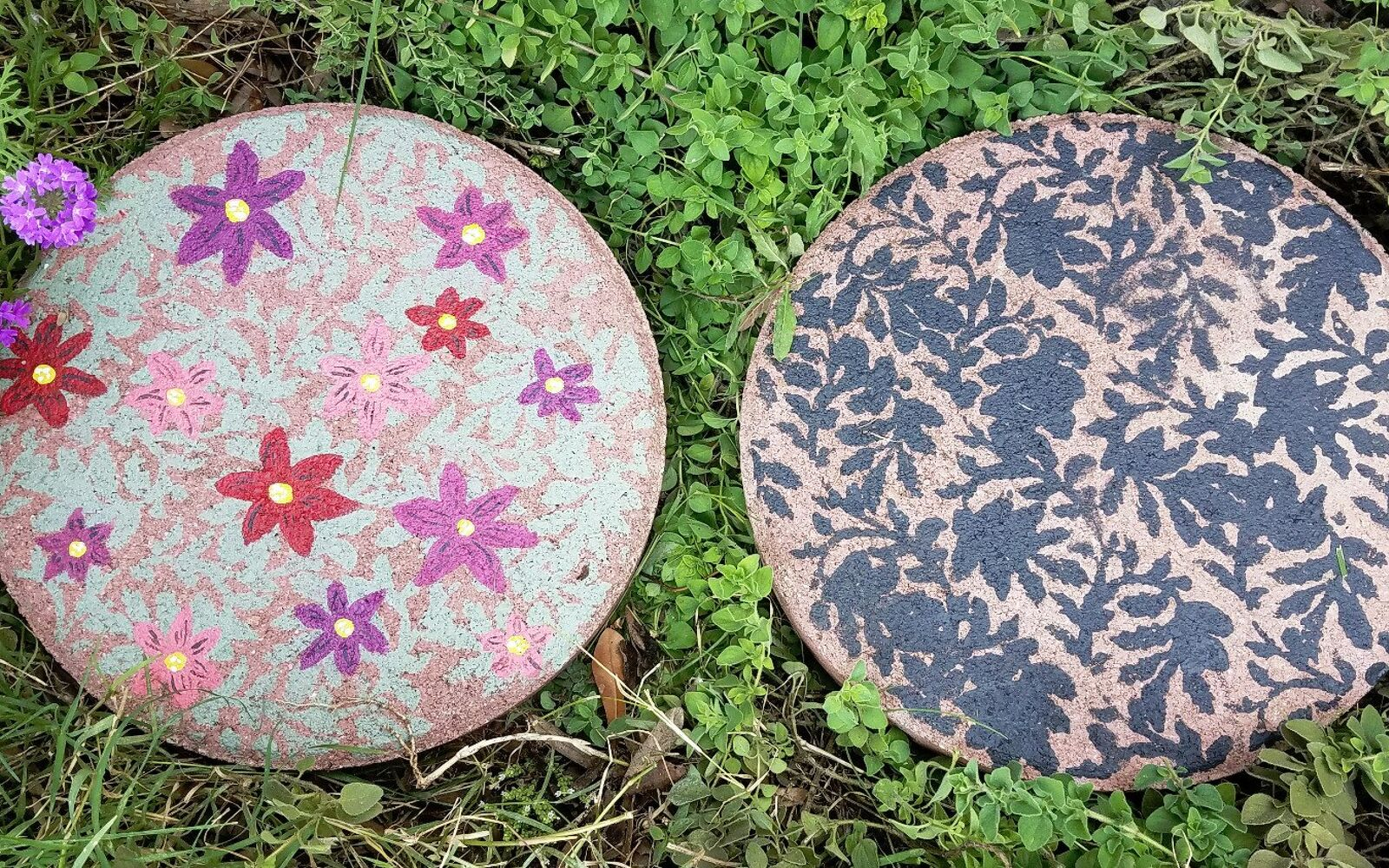 s upgrade your backyard with these 30 clever ideas, Stencil pave stones for garden decor