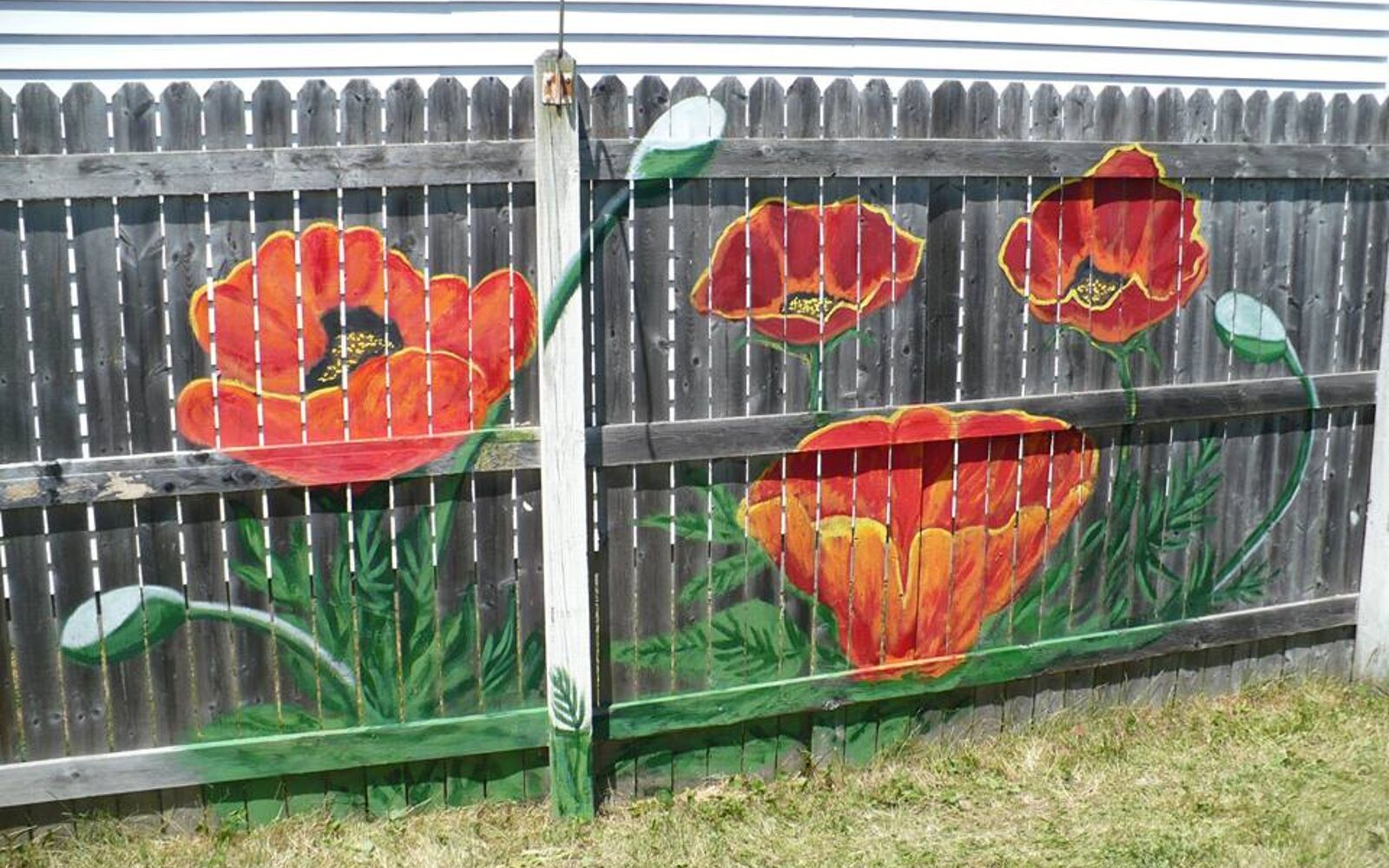 s upgrade your backyard with these 30 clever ideas, Beautify your fence with a paint makeover