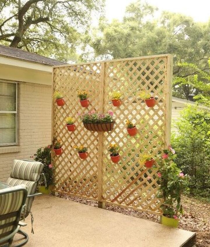 s upgrade your backyard with these 30 clever ideas, Give your backyard privacy with lattice
