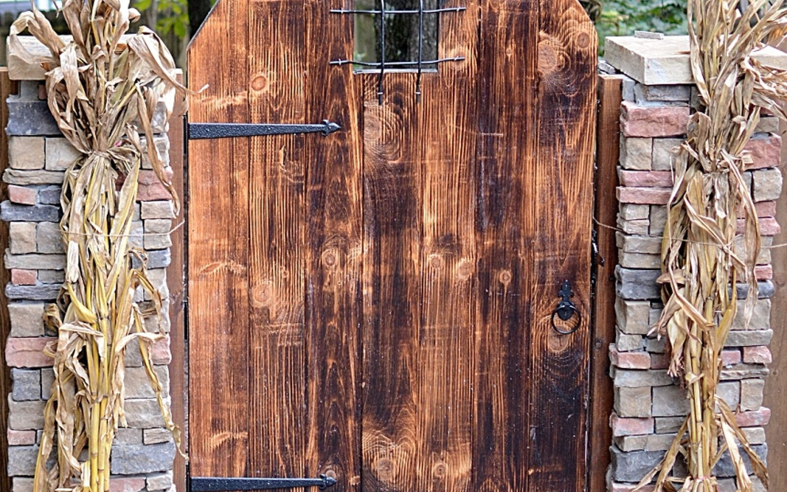 s upgrade your backyard with these 30 clever ideas, Build a rustic backyard door