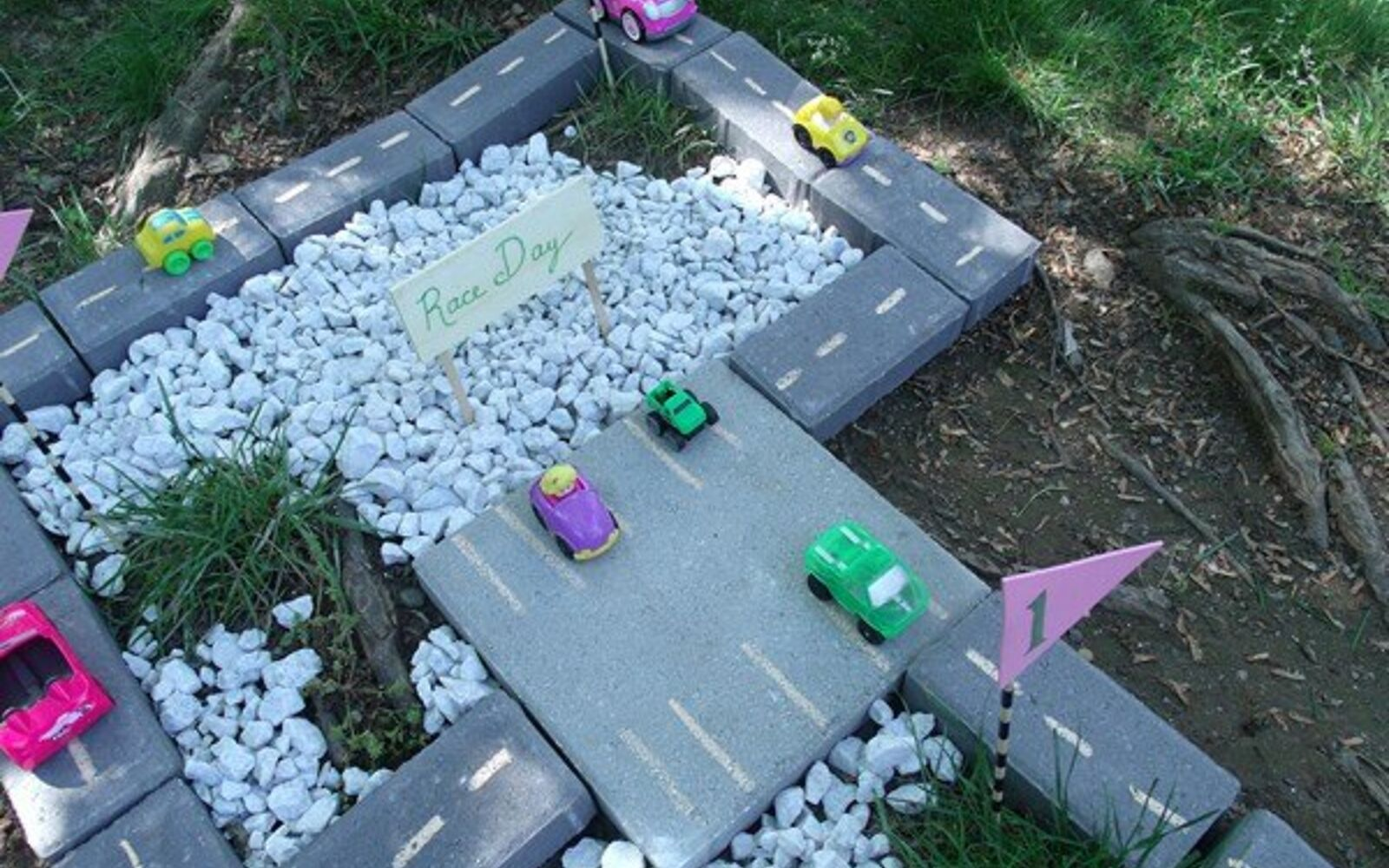s upgrade your backyard with these 30 clever ideas, Create a playful racetrack from brick pavers