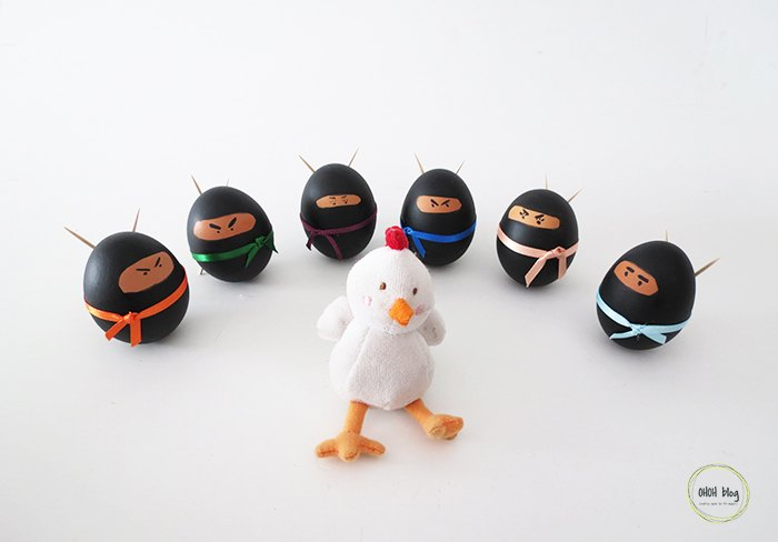 s 20 easy projects to help you get ready for easter, Awesome Easter Ninja Eggs