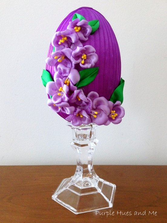 s 20 easy projects to help you get ready for easter, Decorative Ribbon Easter Egg