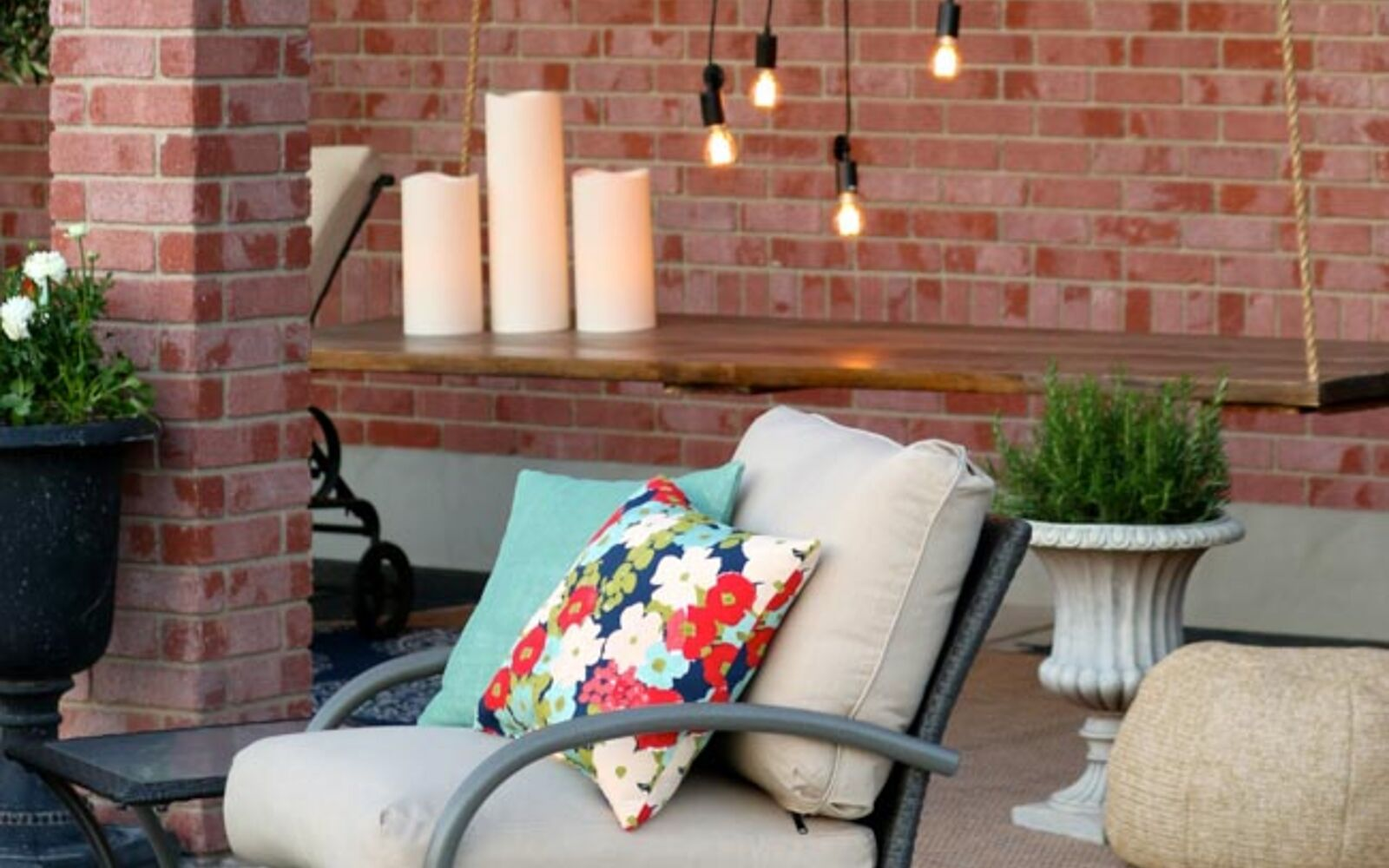 s upgrade your backyard with these 30 clever ideas, Add a stylish hanging table to your backyard