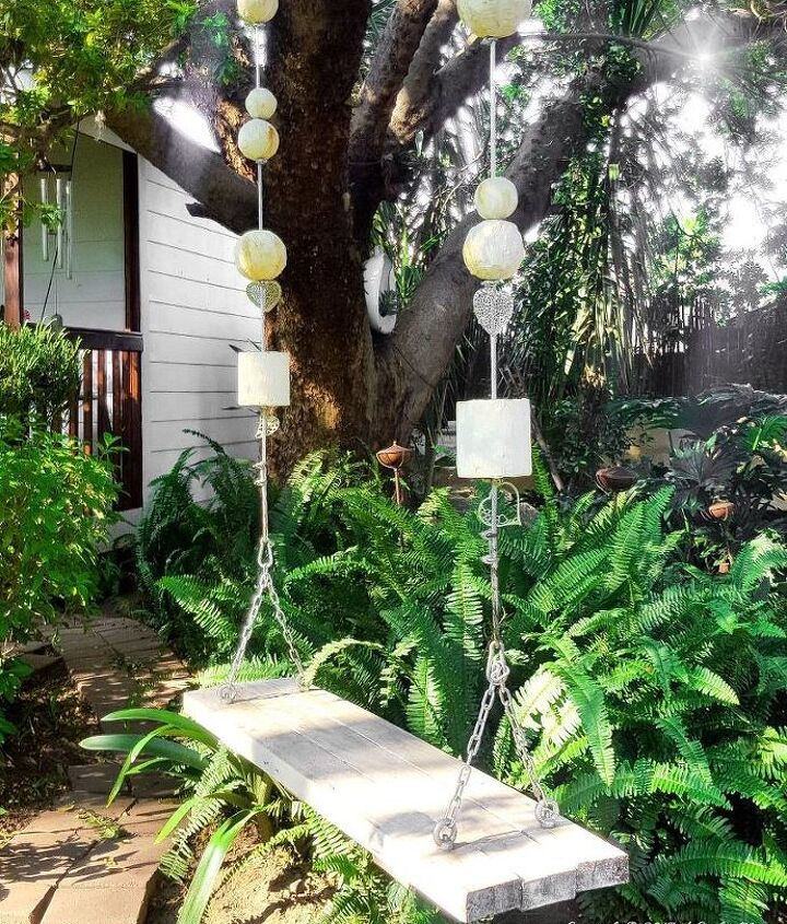 s upgrade your backyard with these 30 clever ideas, Hang a delightful garden swing