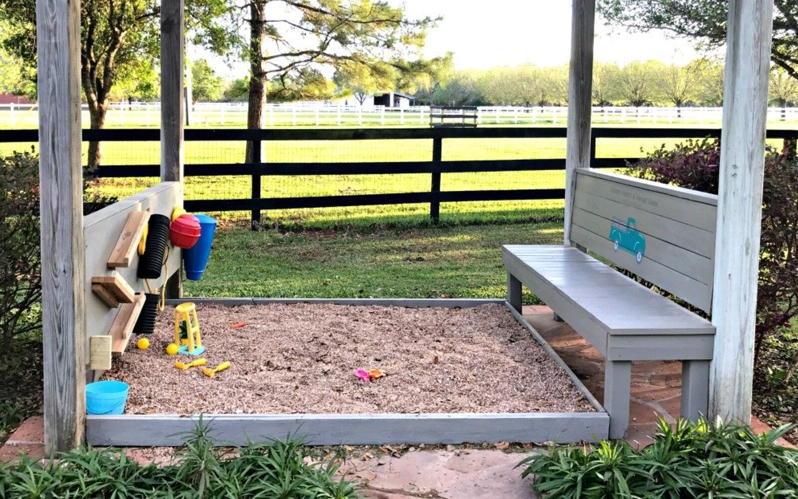 s upgrade your backyard with these 30 clever ideas, Build this joyful playing area for kids