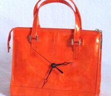 how to make a purse clock