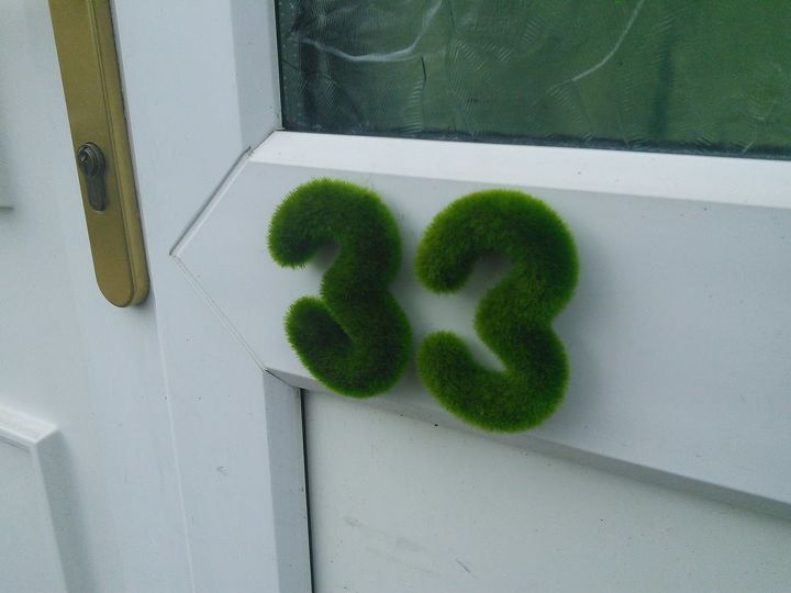 diy house number idea