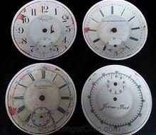 pottery barn knockoff clock plates