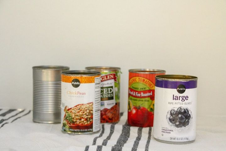 up cycle your empty food cans to this