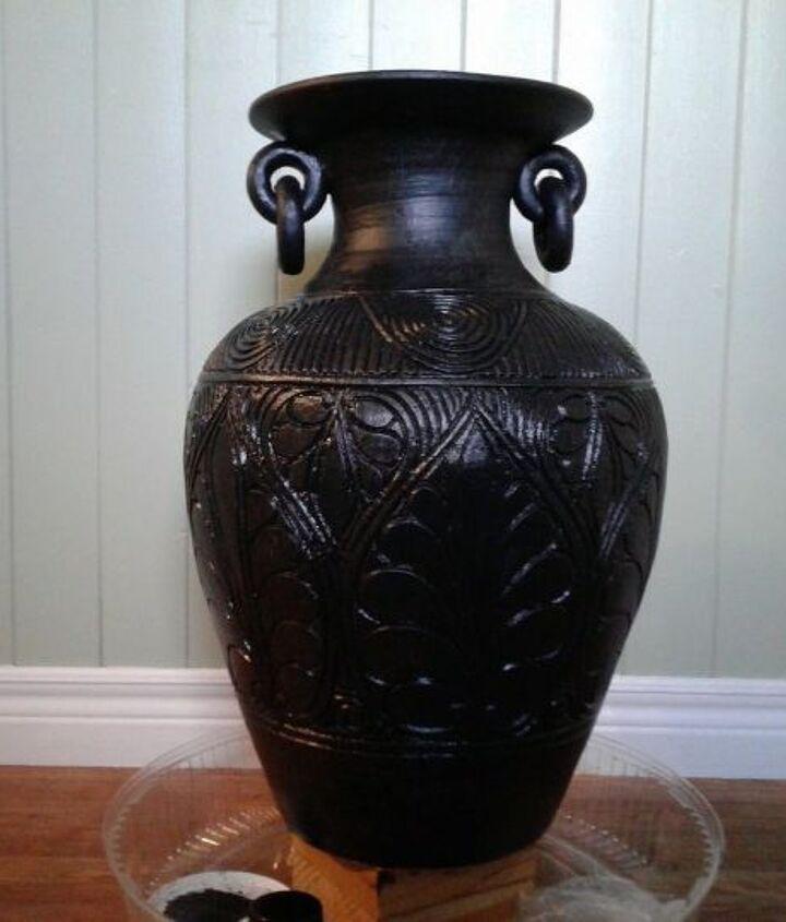 antique bronze vase makeover