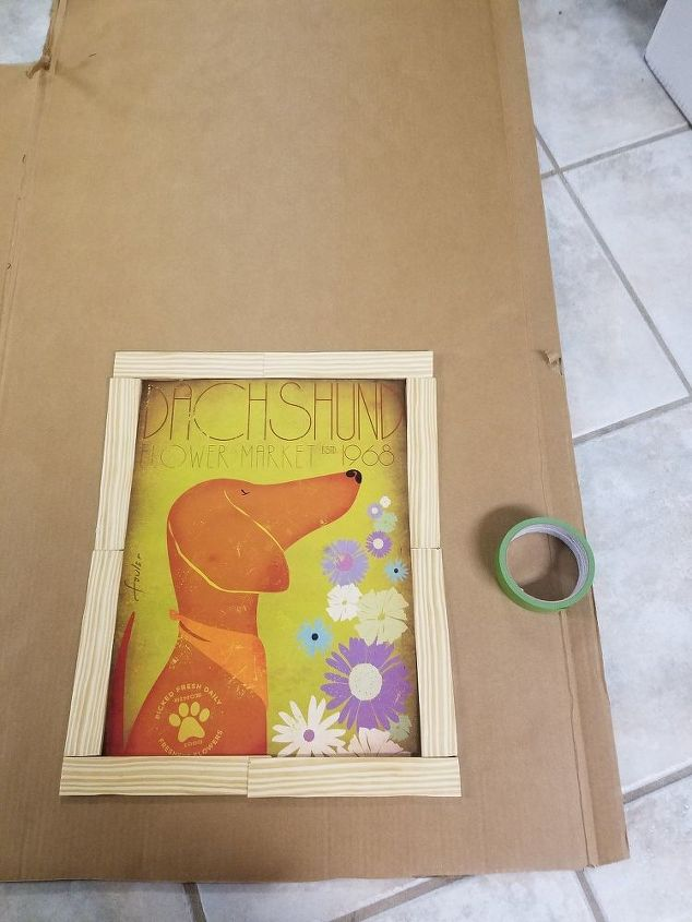 Diy Picture Frame And Backing Using Cardboard And Wood Shims Hometalk