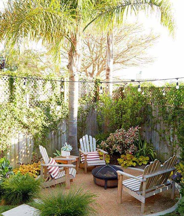 q how to make a small half moon patio
