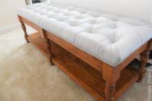 elegant tufted bench with hidden storage