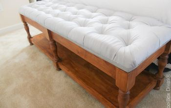 elegant tufted bench with hidden storage